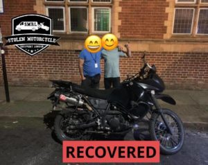 Stolen Motorcycle Recovery London: That KLR Recovery story