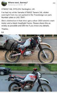 Yamaha XT600 (LAG784Y)